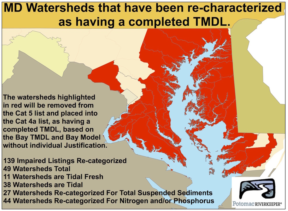 Map delisted waters