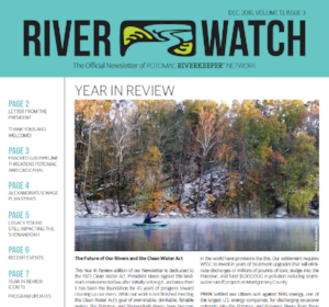 Click the image for our Winter 2016 River Watch newsletter