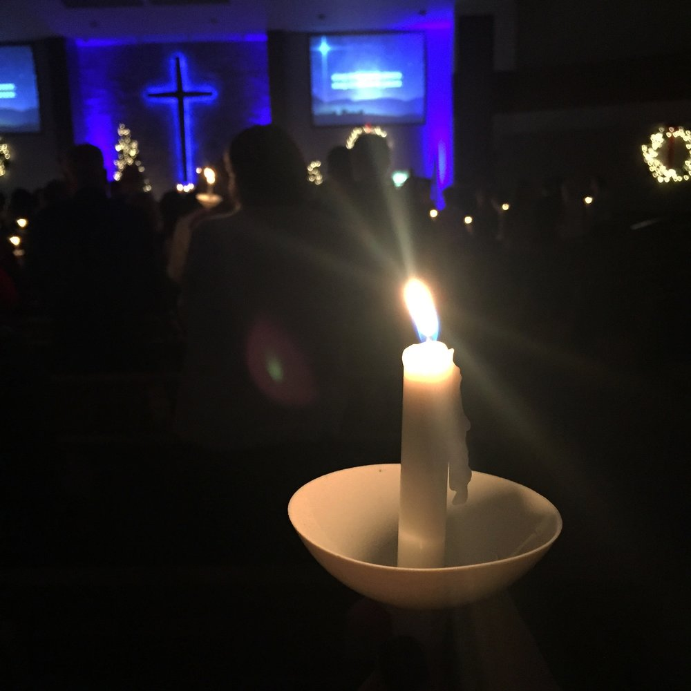 Thursday December 20th - 7pmChristmas Eve - 4pm, 7pm, 9pm - The culmination of Christmas at Asbury is our Candlelight Christmas Eve service. Plan to share in one of the most beautiful and meaningful worship services of the year. Each service has beautiful music, a message of hope and the cherished tradition of passing the candlelight – the light of Christ – as we sing Silent Night together.