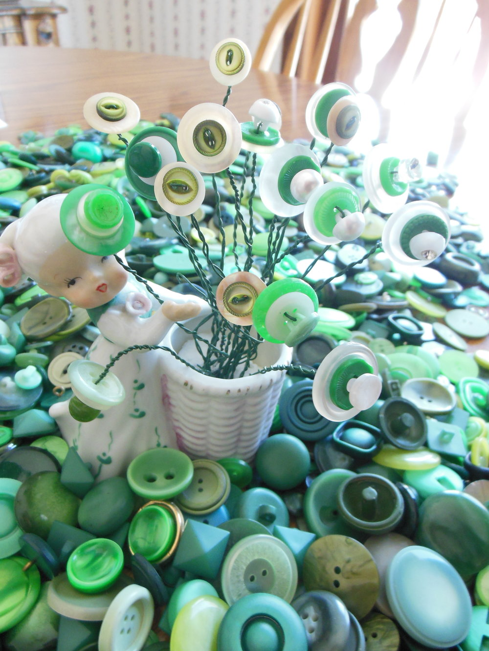 Green New Old Stock Buttons