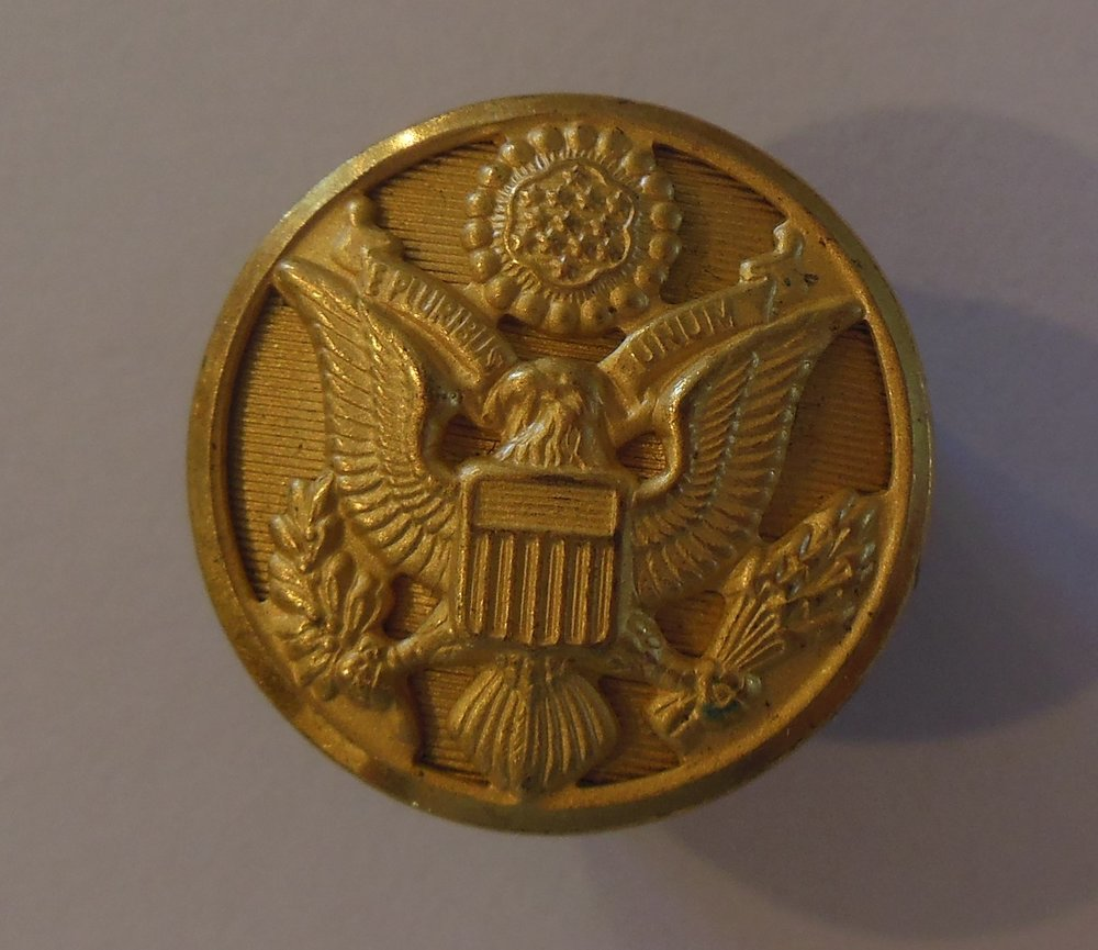 U.S. Army Eagle - Note the beautiful detail - Back marked Waterbury