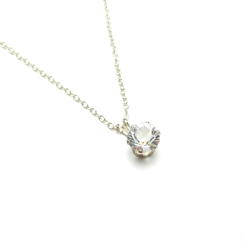 necklace crystal clear pin zhannel lea pendant swarovski