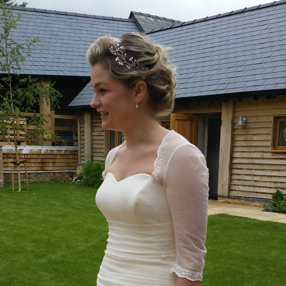 Jessenia wedding hair vine Styled shoot at The Barn at Upcote