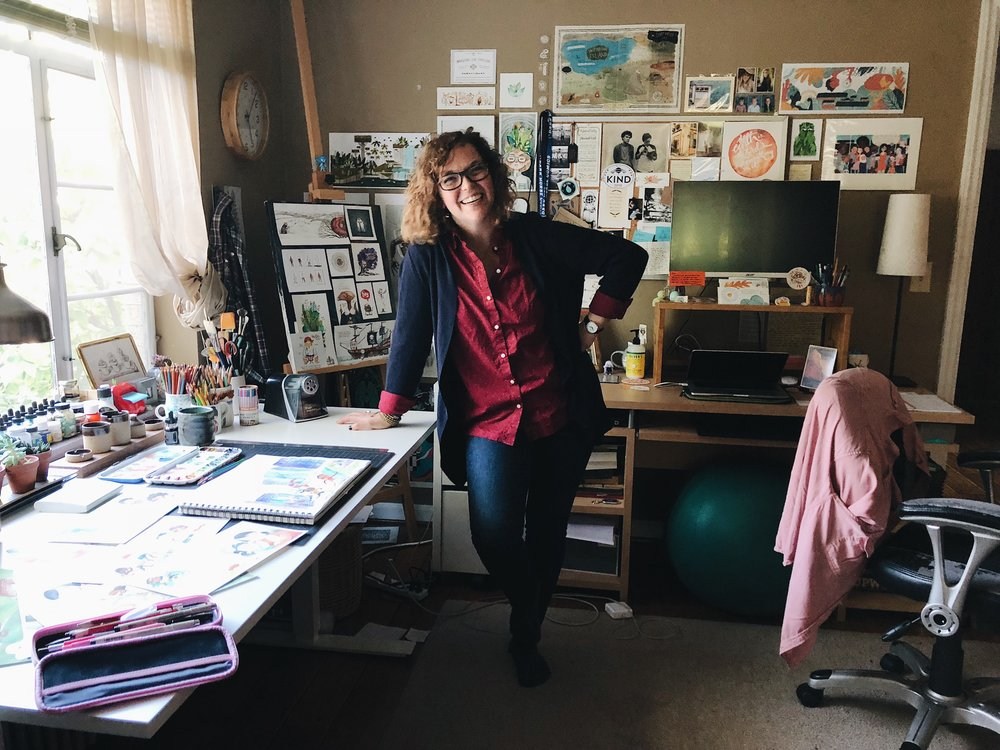 Erin Barker in her home studio