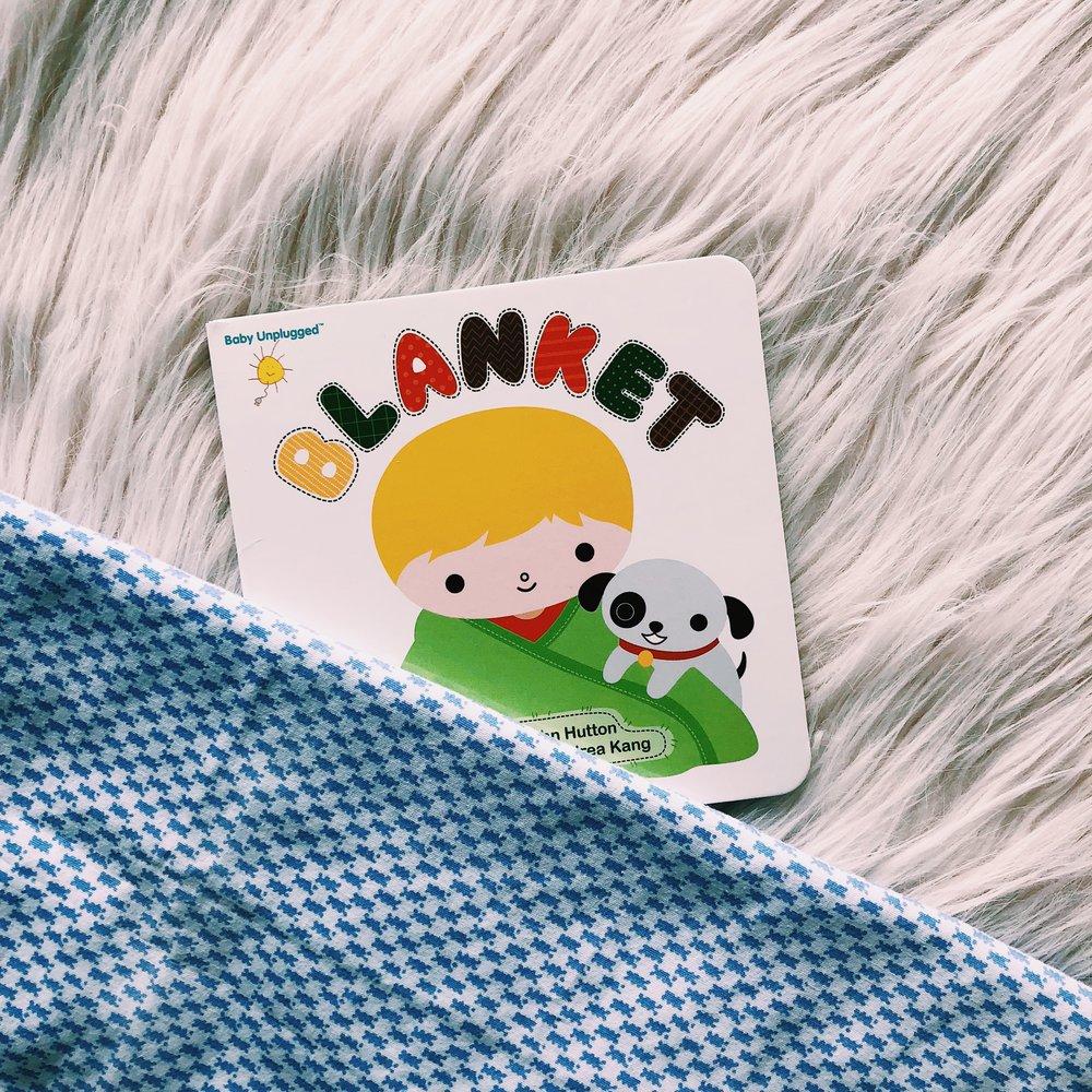 """Think blanket, Dream blanket, Go! blanket, Team! blanket."" -   Blanket  , written by Dr. John Hutton and illustrated by Andrea Kang"
