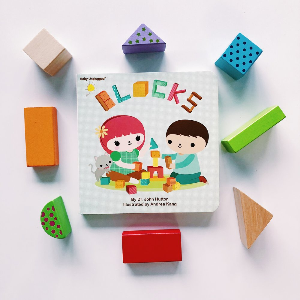 """Some love sticks, some love rocks. I love to play with blocks!"" -   Blocks  , written by Dr. John Hutton and illustrated by Andrea Kang"