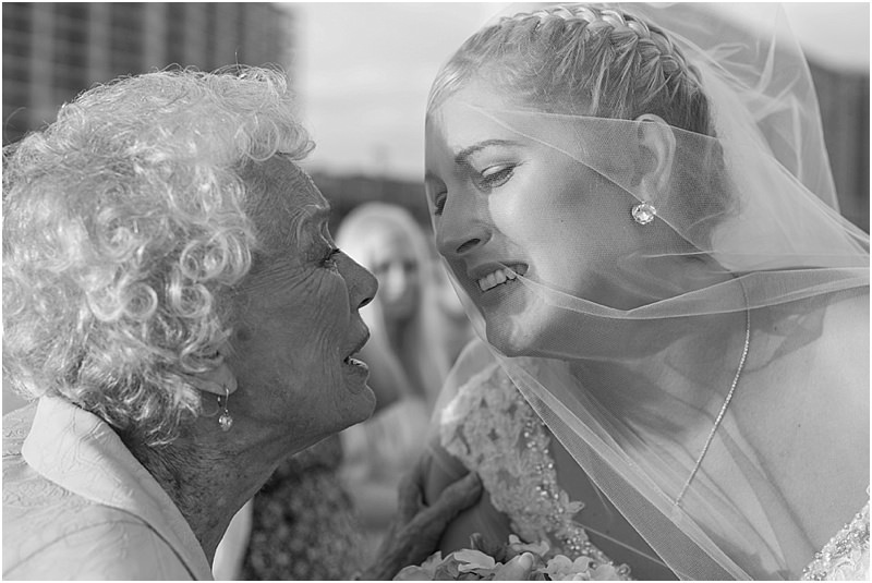 Grandmother Wedding Kiss