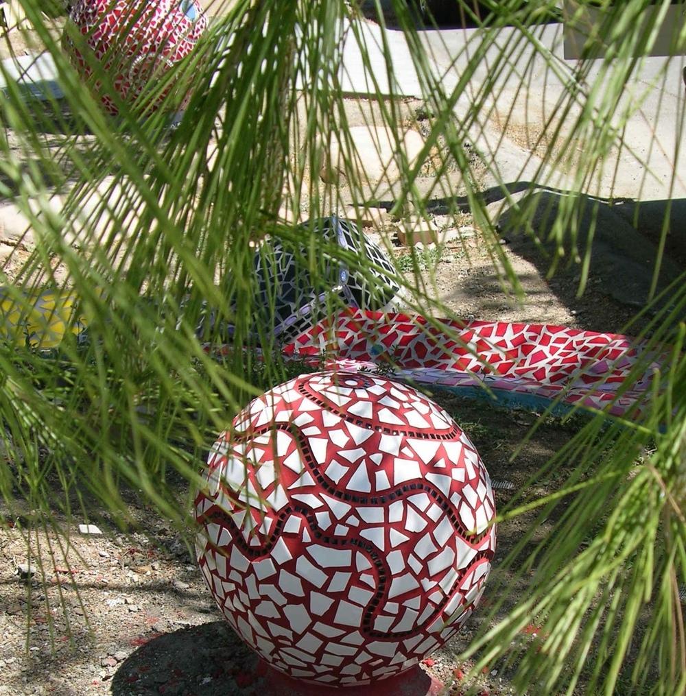 Red Garden Ball
