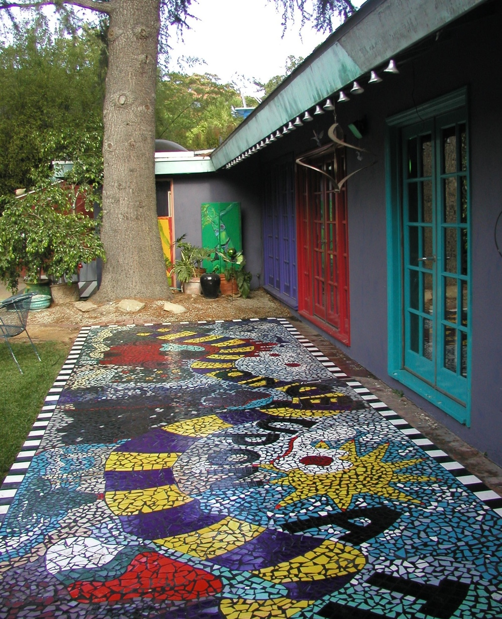 """Once Upon a Time"" Mosaic Patio Walkway"