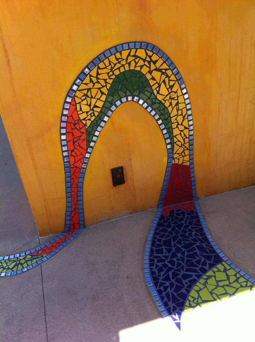 Mosaic Tile Walkway