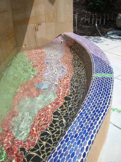 Mosaic Tile Water Fountain - Basin