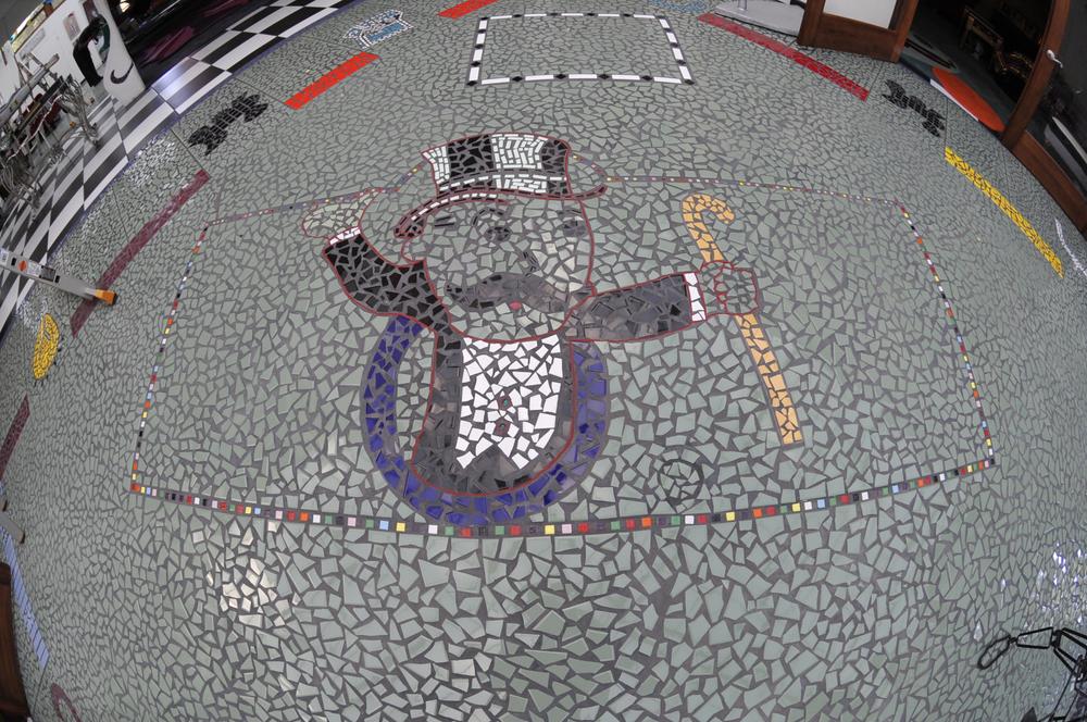 Mosaic Monopoly Floor