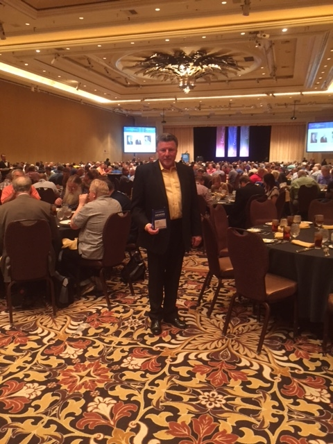 Integrated Design Group's Vice President Joe Maggio at the AFCOM Data Center World Global Conference in Las Vegas, NV.