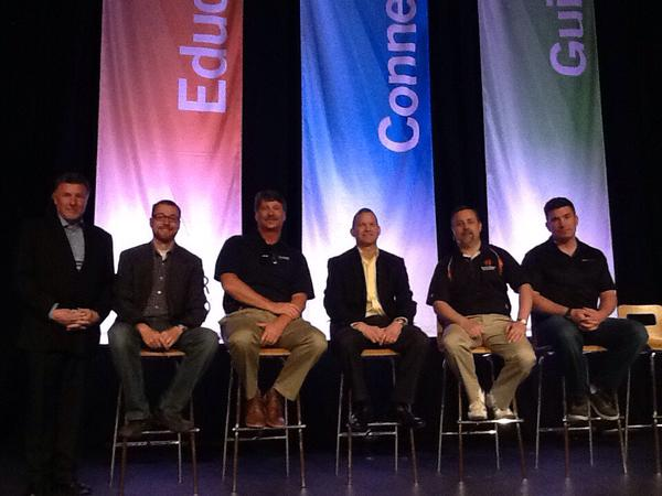 Joe Maggio with other industry experts at a panel at Data Center World. Image by  @DataCenterWorld .