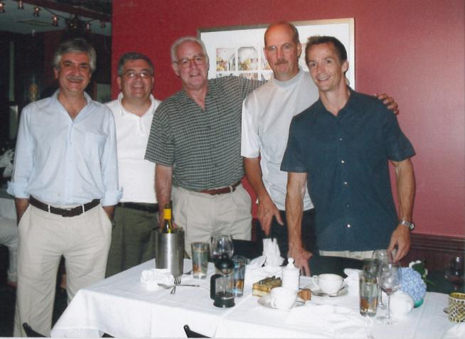 The founders of Integrated Design Group in its early days. Principals include (from left to right): Tony Asfour, Gary Murphy, Robert Stein, Steven McNeice, and Jack McCarthy.