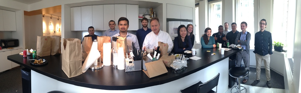The Integrated Design Group team gathering for some delicious on-the-house lunch from Five Guys. Don't mind if we do!