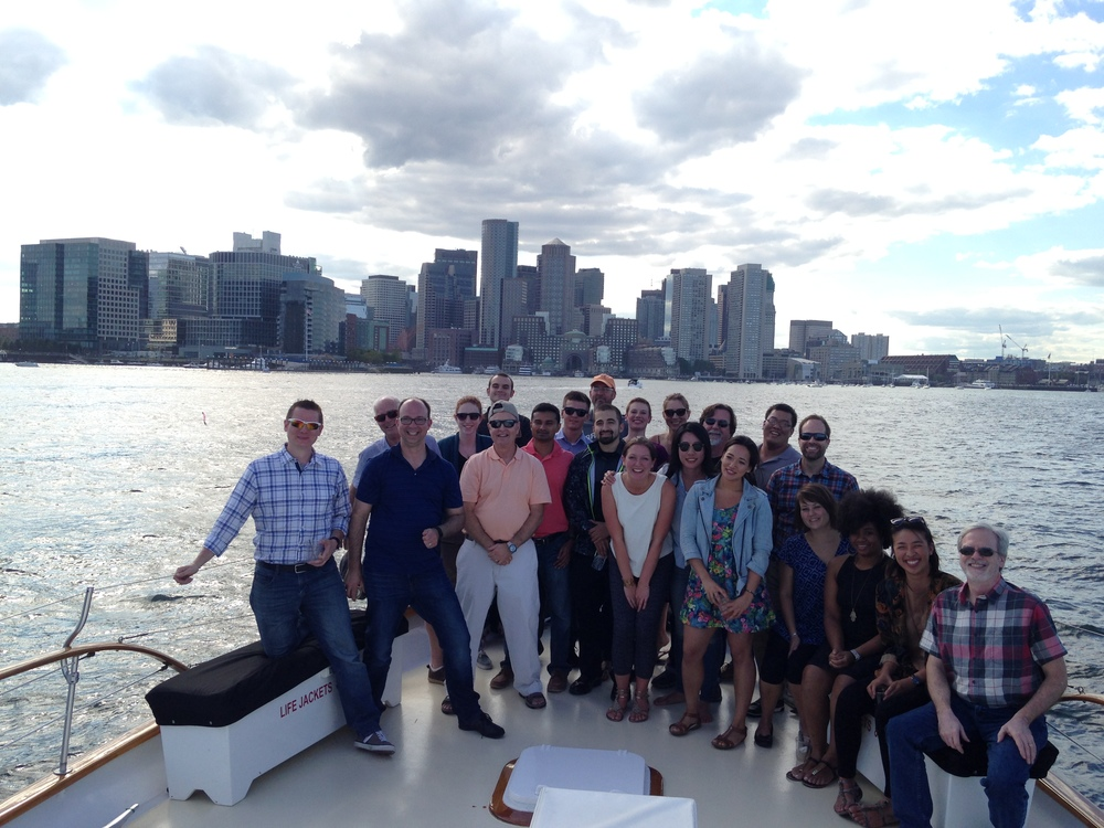 Integrated Design Group's Boston office on their annual summer outing in 2015.