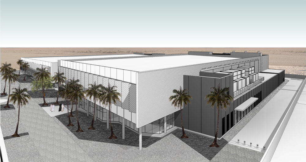 Preliminary rendering of the KAUST Data Center facilities designed by our professionals