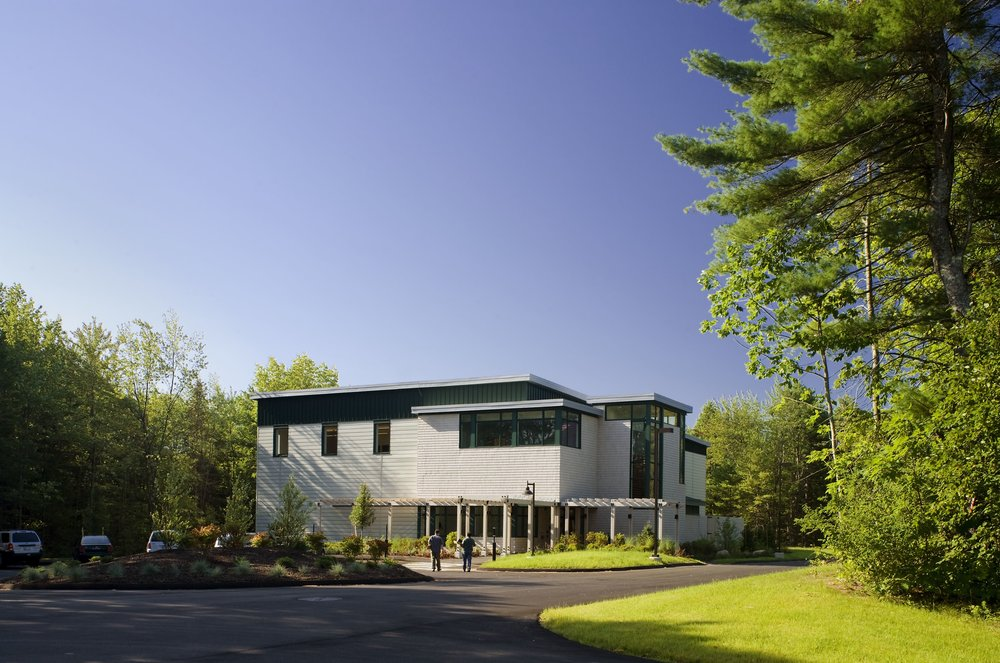 L.L.Bean | Stoneham Data Center | Freeport, ME   Set in a wooded site, the 18,000 square-foot two story building was designed in the spirit that reflects the retailer's e-commerce business that is focused on outdoor apparel and gear.  More…