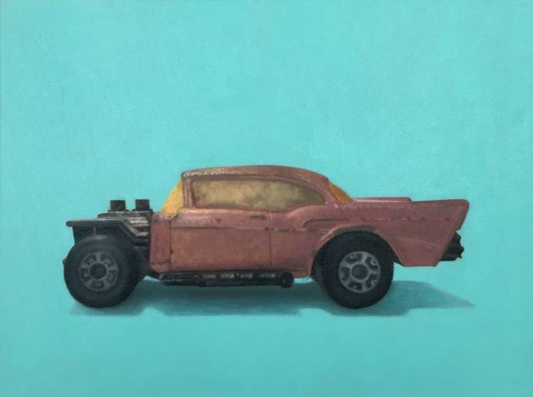"57 Chevy Matchbox Car Oil on Canvas 18"" x 24"" 2016    price available upon request"