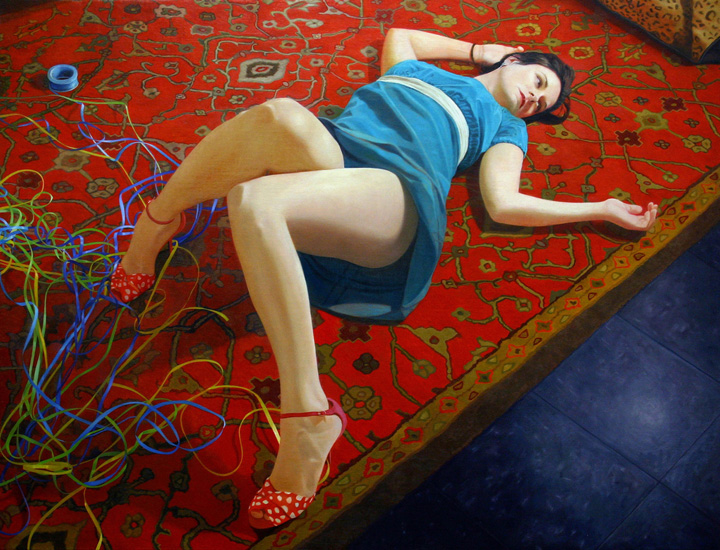 "Auld Lang Syne Oil on Linen on Panel 32"" x 42"" 2008   sold"