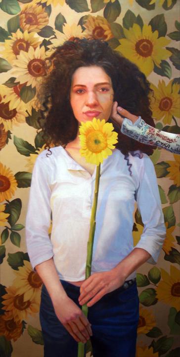 """Antonia Oil on Linen 36"""" x 18"""" 2009   sold"""