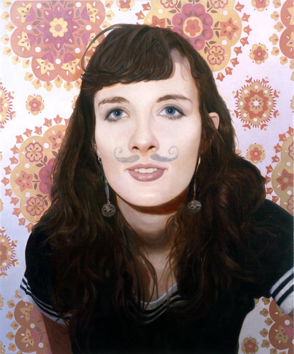 """Allison Oil on Linen on Panel 24"""" x 20"""" 2008   sold"""