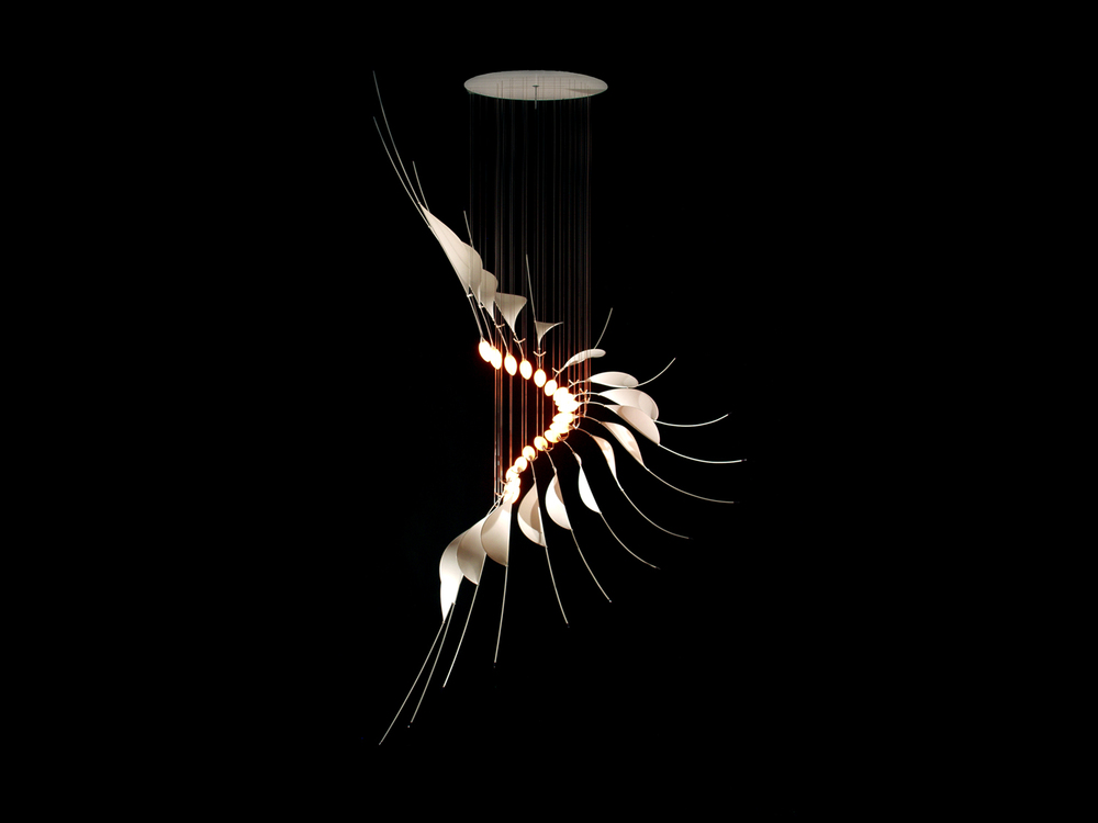 Caelex designed and built by Christopher Moulder Lighting Sculpture
