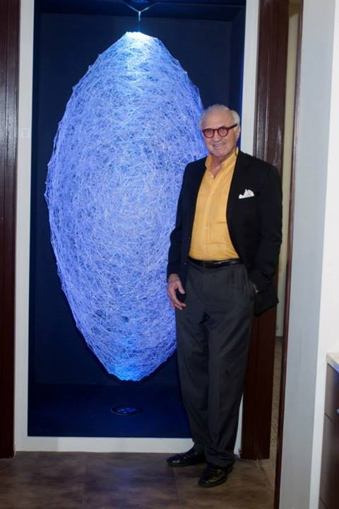Francis Lott of Lott Properties pictured with The Francis installed in it's new home at the Chamber of Commerce buildings in Douglas, Georgia USA.