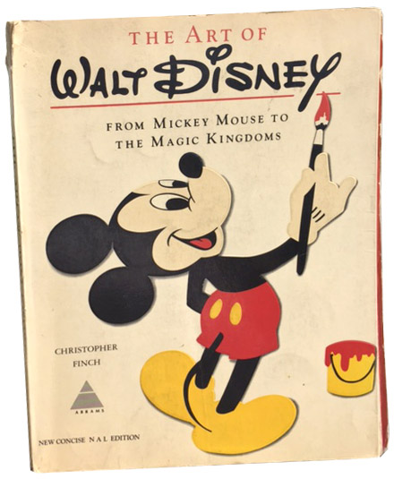 This is Ethan's original copy of  The Art of Walt Disney,  printed in 1975
