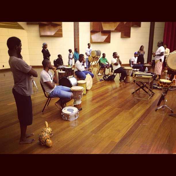 The Haynesville Youth Group- our collaborators for the concert tonight, young men and women who play African, tuk band (from Barbados) and Calypso music, dance and song.