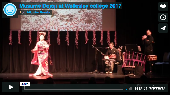 From Musume Dojoji @ Wellsley College from Michiko Kurata on Vimeo. Click  here  to watch the video!