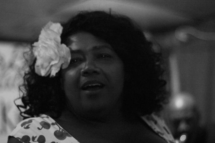 ( Photography ) Jazz Singer at Paris Blues, Harlem, 2015