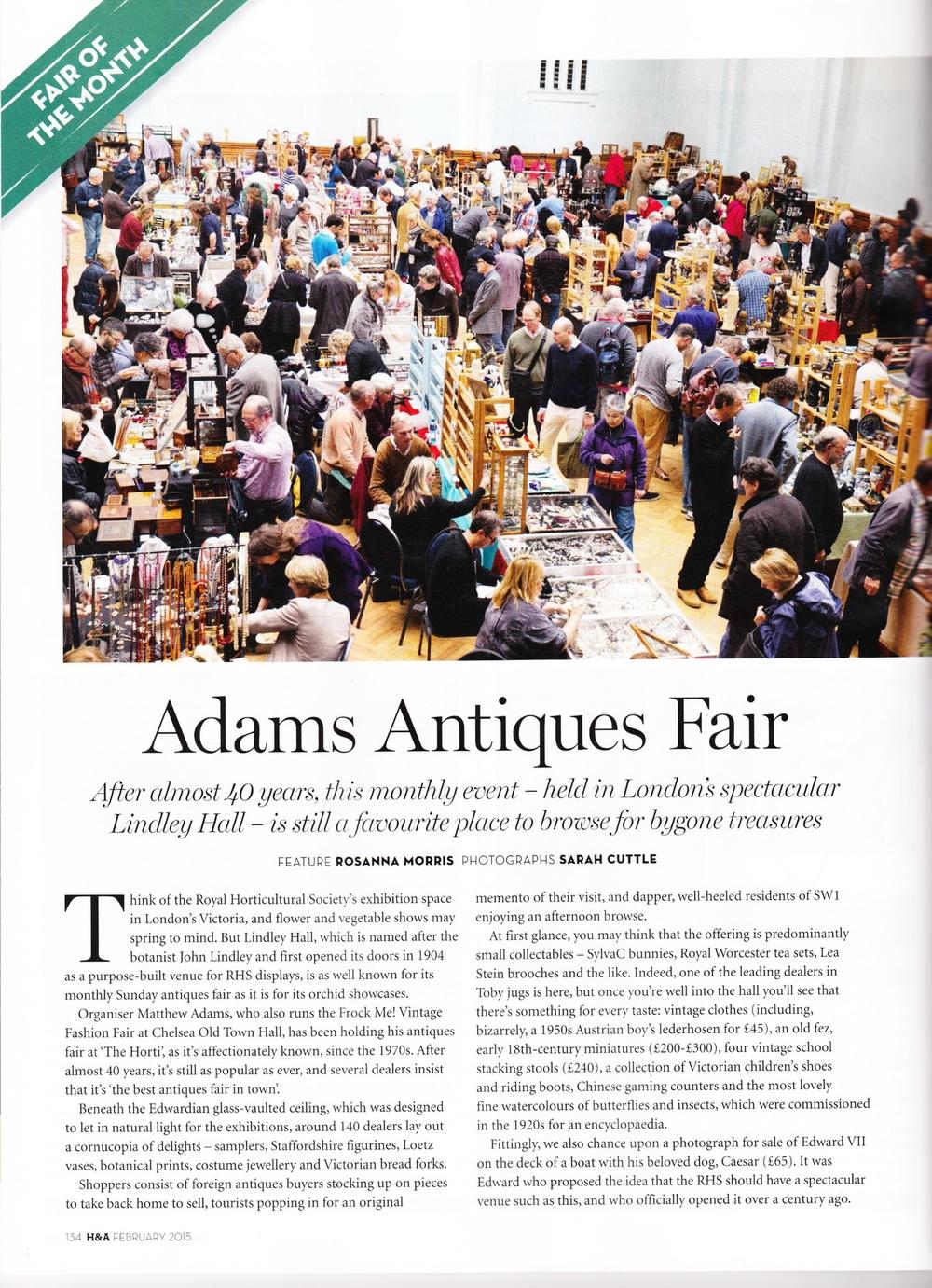 Homes & Antiques Magazine, February 2015