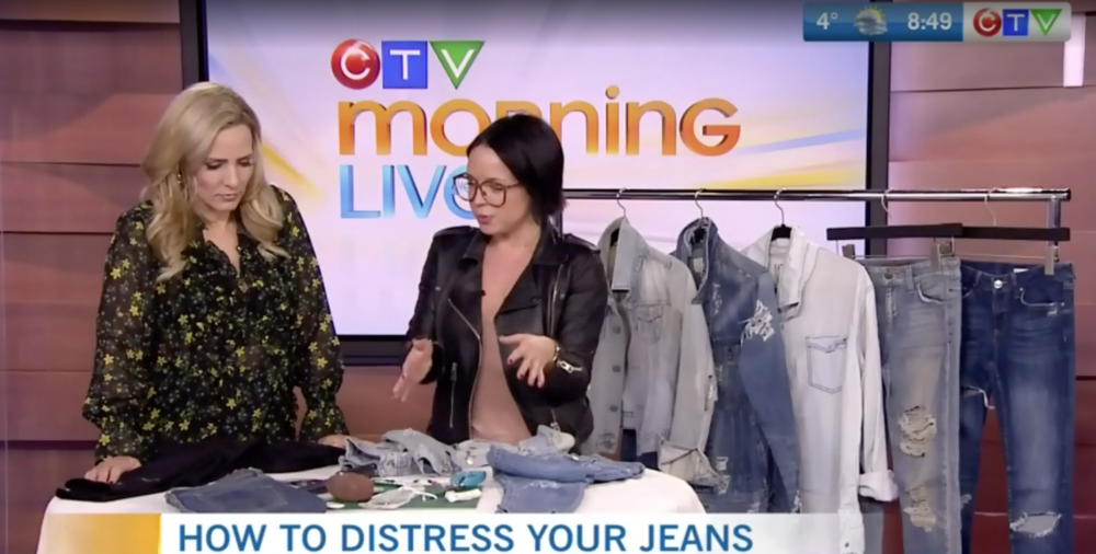 CTV Morning Live: My top tips for nailing the 'distressed denim' DIY