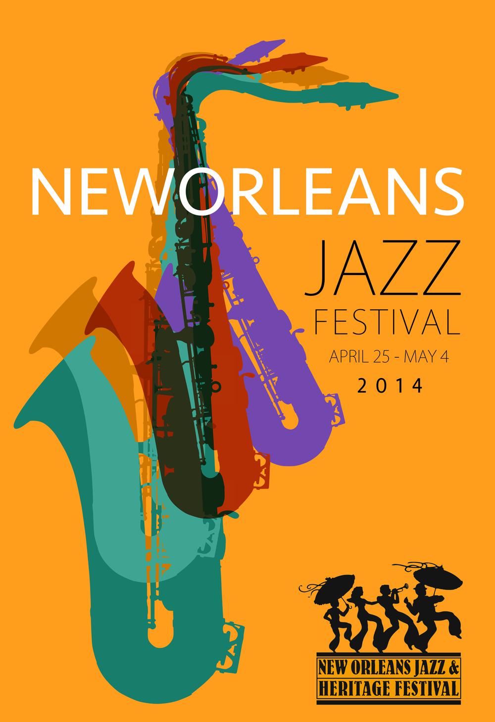 Jazz Festival New Orleans poster