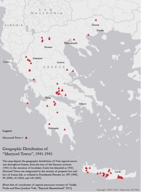 Geographic Distribution of Martyred Towns [ArcGIS Document by Zander Abranowicz]