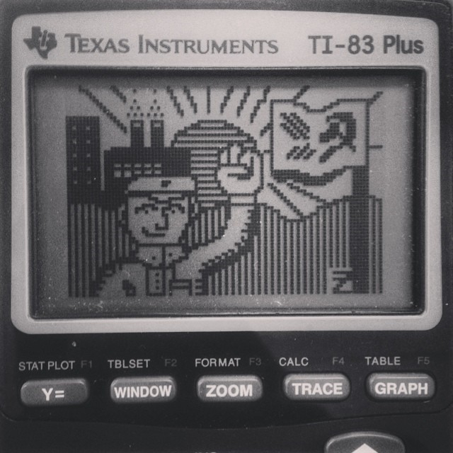 Maoist calculator art