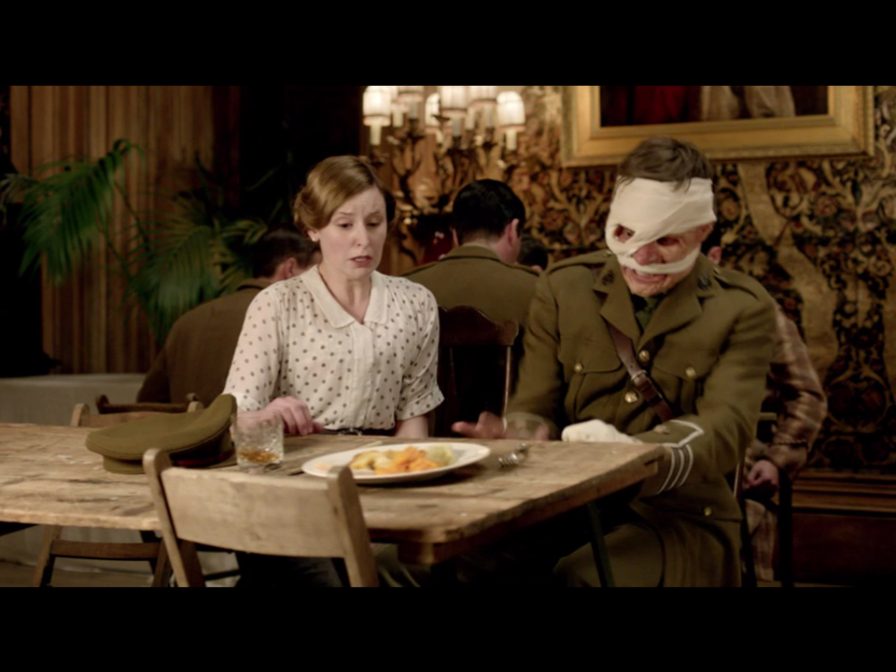 An angry imposter on  Downton Abbey