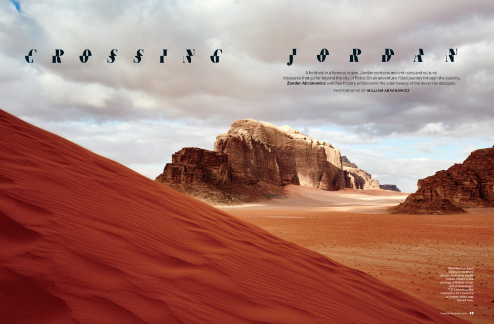 View of Wadi Rum. Photograph by  William Abranowicz .