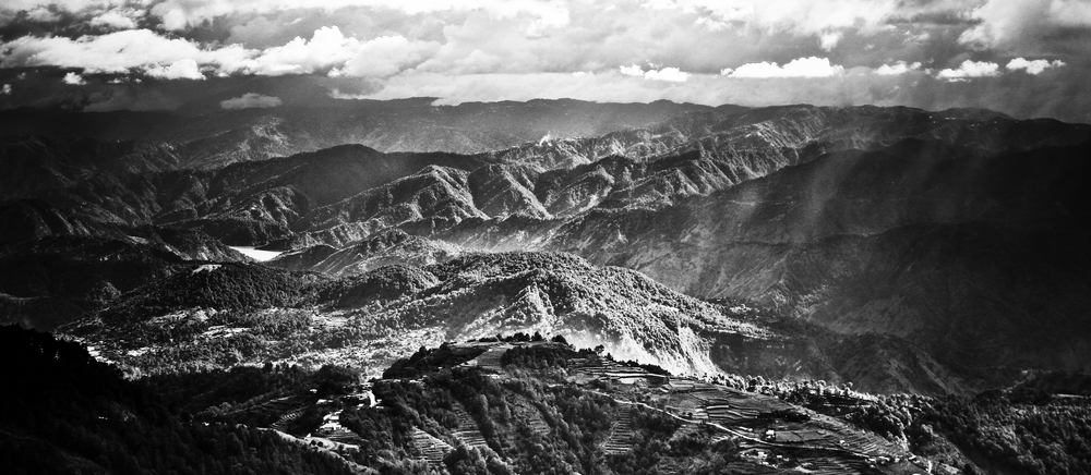 The Cordillera Mountain Range, the highest mountain range in the Philippines whose inhabitants are closely-related ethnic minorities. Kabayan, Benguet.