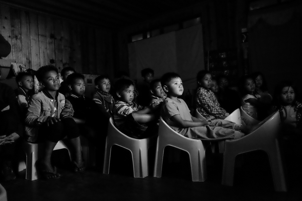 During a film-showing at Mt. Pulag Elementary School. Mt. Pulag Elementary School, Kabayan, Benguet.