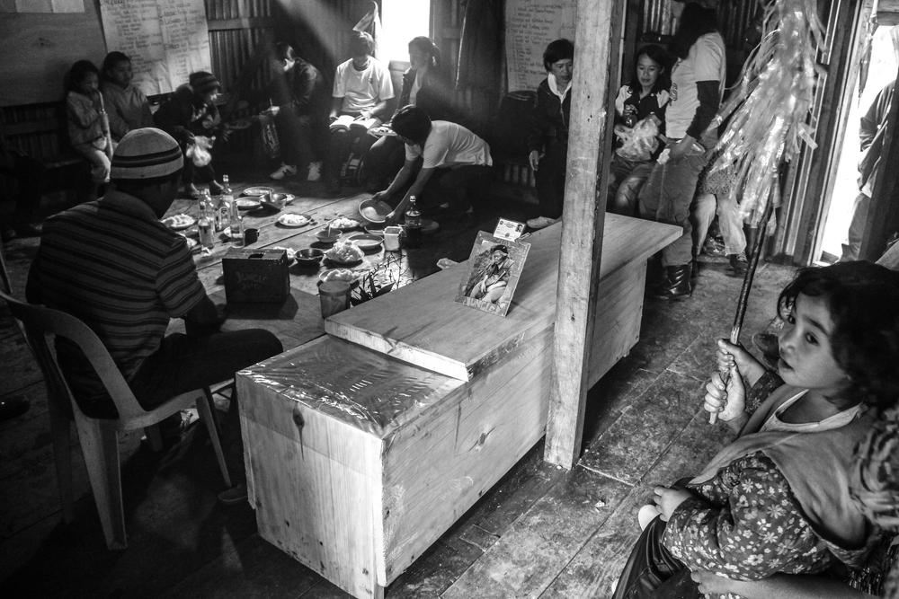 Residents attend a funeral in Kabayan, Benguet. Lebeng, Kabayan, Benguet.