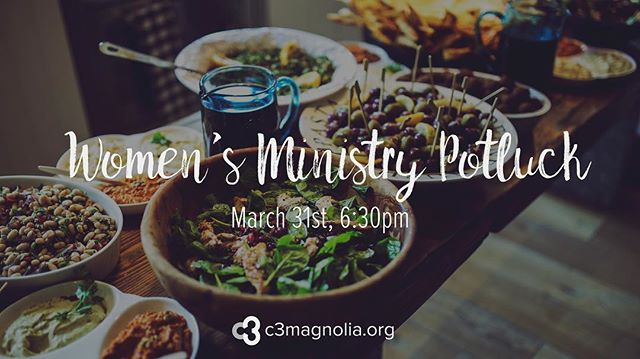 You are invited to a good old-fashioned potluck dinner at the home of Julie Romero this Friday, March 31 at 6:30 PM. Break out your favorite family recipe or that one you've been wanting to try and sign up on the website! {Link in profile.}