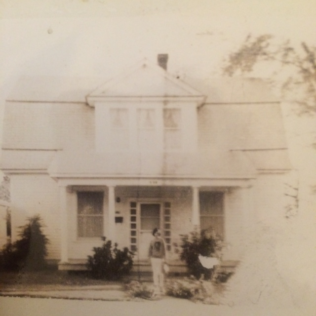 House around 1960 with the previous owner, Mary Jo Lewis.