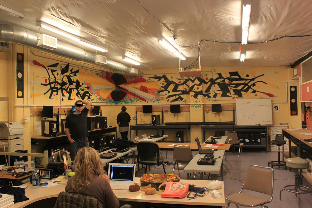 Youth Media School Mural - 2012