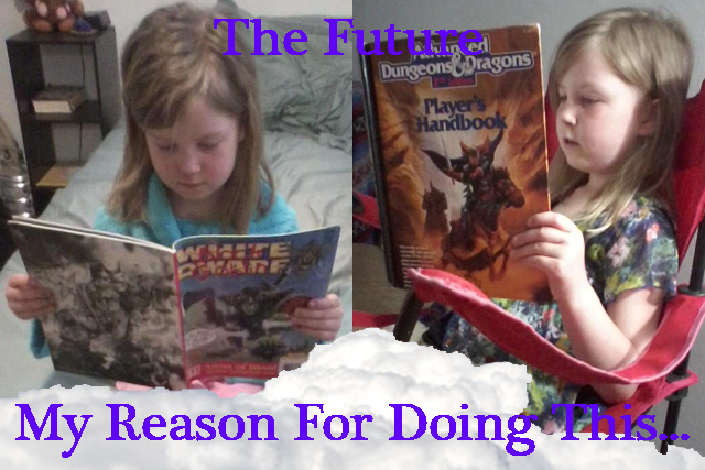Richard's daughter Ava loves learning about gaming and all things fantasy!