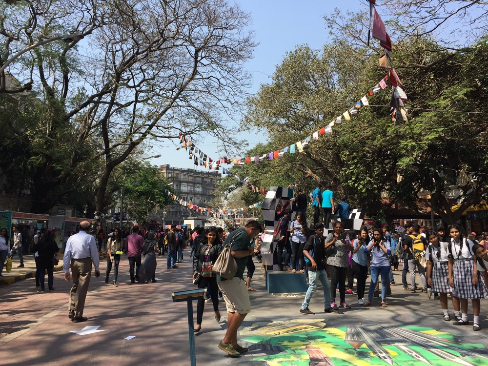 We spent some time exploring the Kala Ghoda art festival