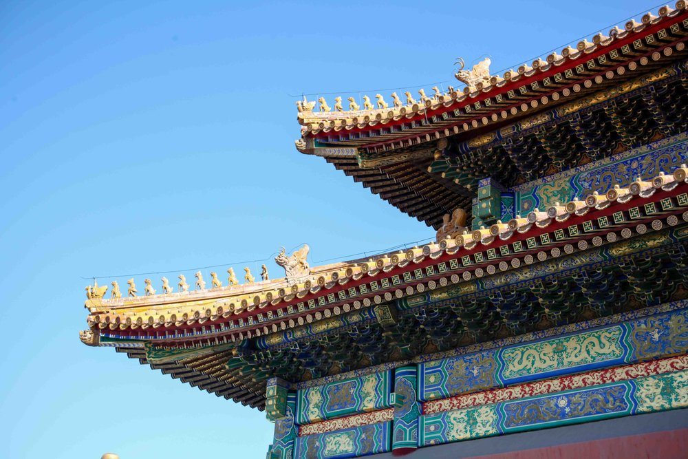 The roof of the Hall of Supreme Harmony has 11 figures as the roof decoration, which is the highest status.