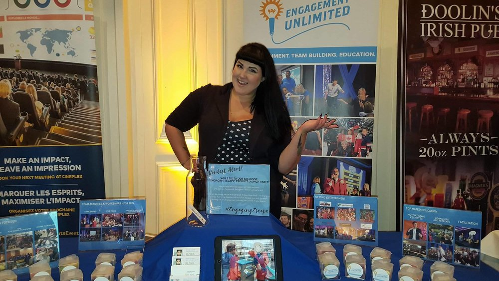 Melanie exhibiting with MPI